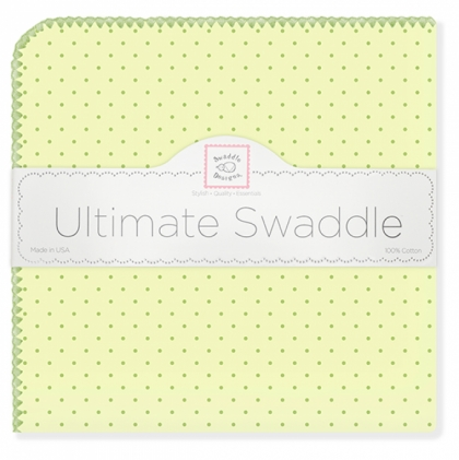 Фланелевая пеленка для новорожденного SwaddleDesigns Kiwi w/Kiwi Dot