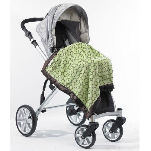 Плед детский SwaddleDesigns Stroller Blanket Lime w/BR Mod C