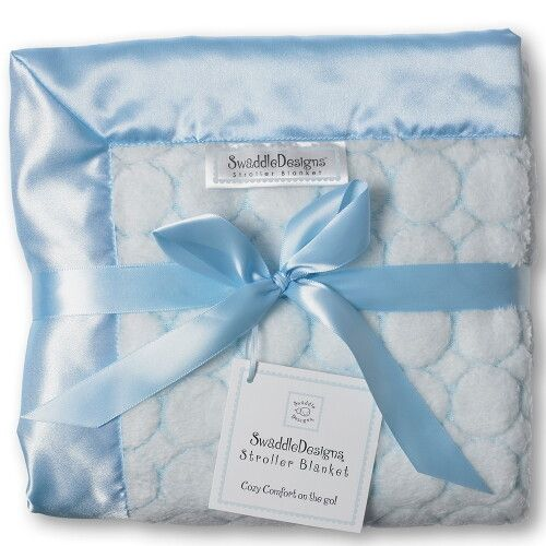 Плед детский SwaddleDesigns Stroller Blanket Pstl Blue Puff C