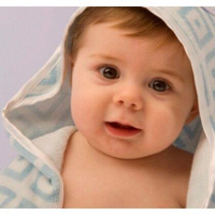 Полотенце для новорожденных Ромбики