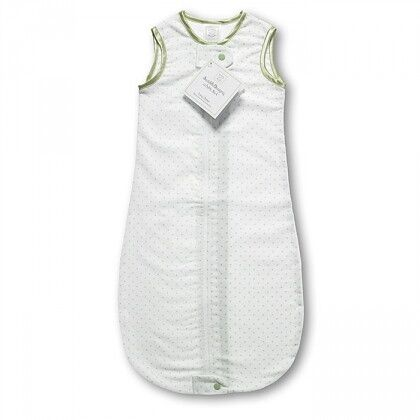 Спальный мешок для новорожденного SwaddleDesigns zzZipMe Sack 12-18M Flannel Kiwi Polka Dots