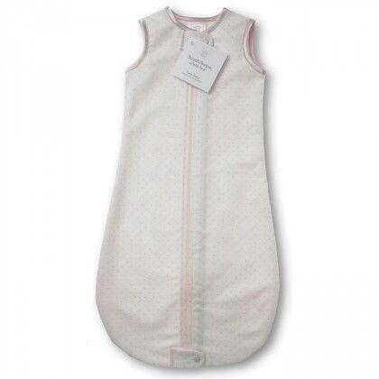Спальный мешок для новорожденного SwaddleDesigns zzZipMe Sack12-18M Flannel Lt PP w/PP Dots