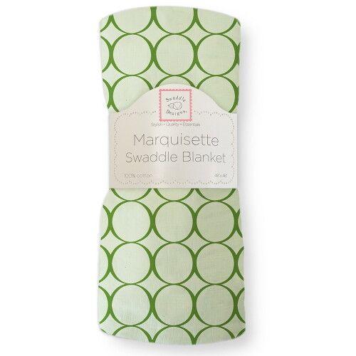 Пеленка детская тонкая SwaddleDesigns Маркизет Pure Green Mod C