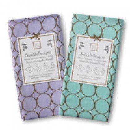 Пеленки детские тонкие SwaddleDesigns Lavender and SeaCrystal