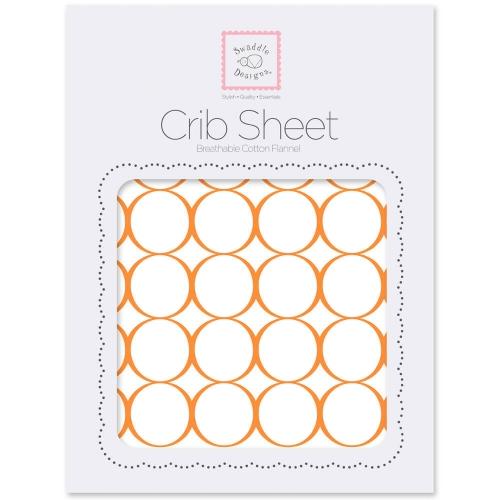 Простынь детская SwaddleDesigns Fitted Crib Sheet Orange Mod