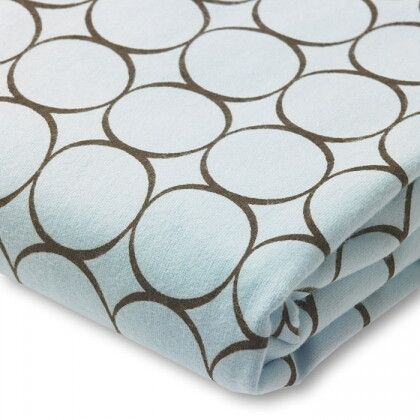Простынь детская SwaddleDesigns Fitted Crib Sheet Blue w/BR Mod C