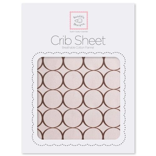 Простынь детская SwaddleDesigns Fitted Crib Sheet Pink w/BR Mod C