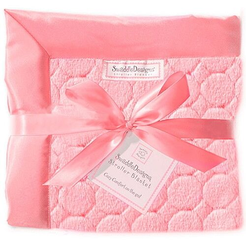 Плед детский SwaddleDesigns Stroller Blanket Pink Puff Circles