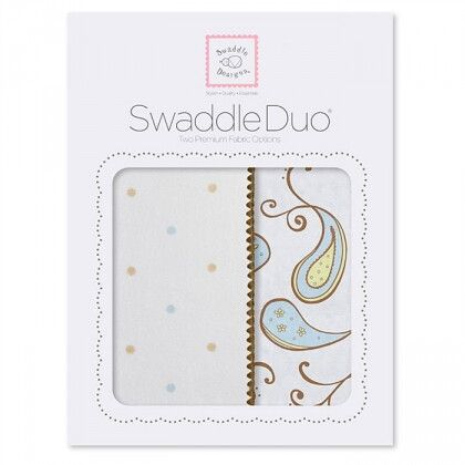 Набор пеленок SwaddleDesigns Swaddle Duo Pstl Blue Triplets