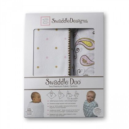 Набор пеленок SwaddleDesigns Swaddle Duo Pink Triplets Duo
