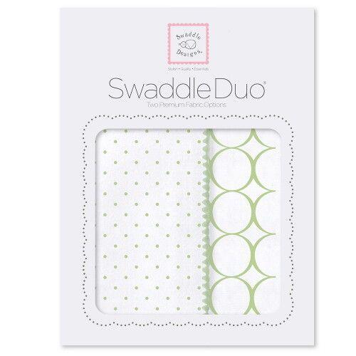 Набор пеленок SwaddleDesigns Swaddle Duo Kiwi Classic