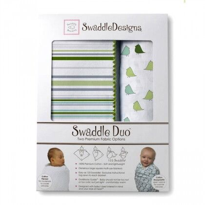 Набор пеленок SwaddleDesigns Swaddle Duo KW/PG Lt Chickies