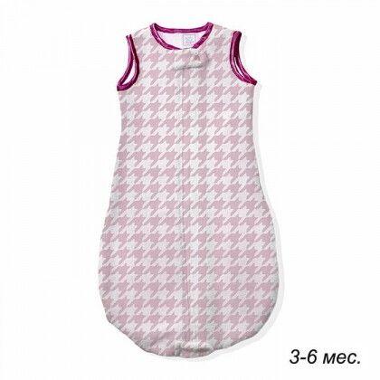 Детский спальный мешок SwaddleDesigns zzZipMe 3-6 М Pink Puppytooth