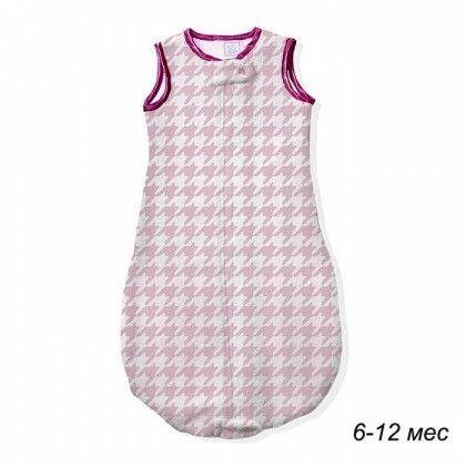 Детский спальный мешок SwaddleDesigns zzZipMe 6-12 М Pink Puppytooth