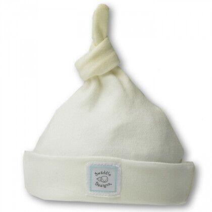 Шапочка Organic Knotted Hat w/Logo Ivory w/PB Dots