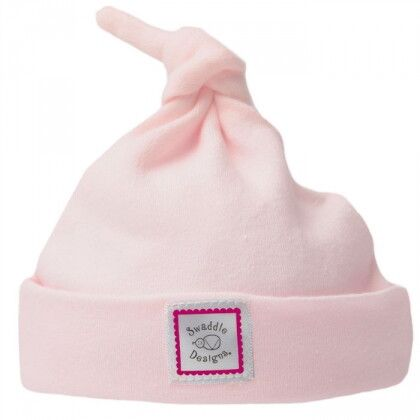 Шапочка Knotted Hat Pastel Pink with Very Berry