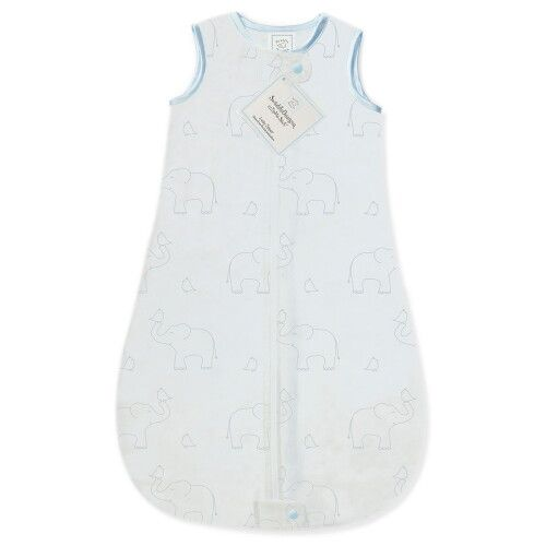 Детский спальный мешок SwaddleDesigns zzZipMe Sack Blue/Sterling Deco Elephant