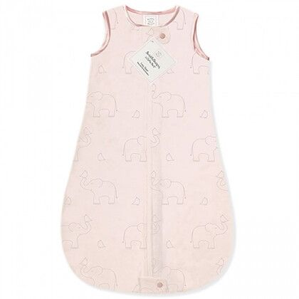 Детский спальный мешок SwaddleDesigns zzZipMe Sack (3-6) Pink/Srerling Deco Elephant