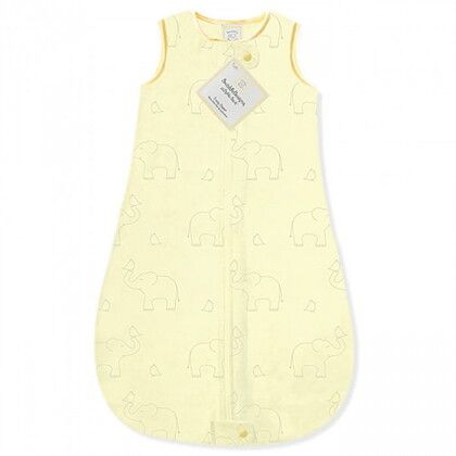 Детский спальный мешок SwaddleDesigns zzZipMe Sack (6-12) Yellow/Sterling Deco Elephant