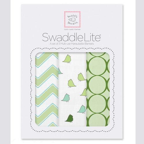 Наборы пеленок SwaddleDesigns SwaddleLite Chic Chevron Lite Kiwi