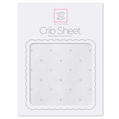 Простынь детская Fitted Crib Sheet PB & Sterling Dot