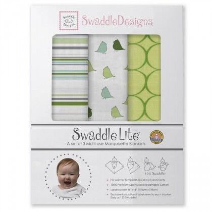 Набор пеленок SwaddleDesigns SwaddleLite Jewel Tone Pure Green