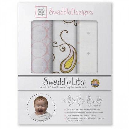 Наборы пеленок SwaddleDesigns SwaddleLite Paisley