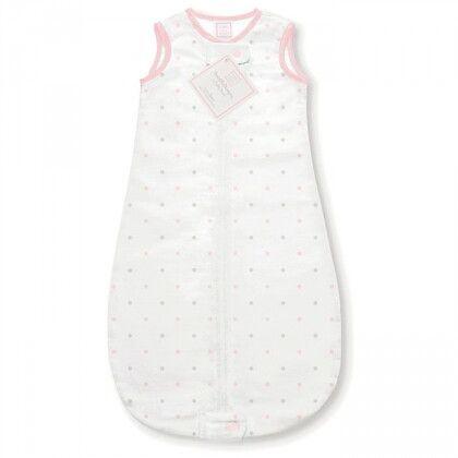 Спальный мешок для новорожденного SwaddleDesigns zzZipMe Sack 6-12M Flannel PP/ST Little Dot