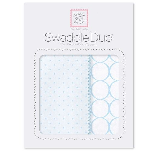 Набор пеленок SwaddleDesigns Swaddle Duo PB Dot/Mod Circle