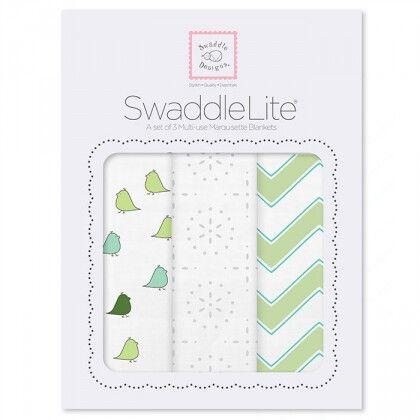 Набор пеленок SwaddleDesigns SwaddleLite Kiwi Chevron Lite
