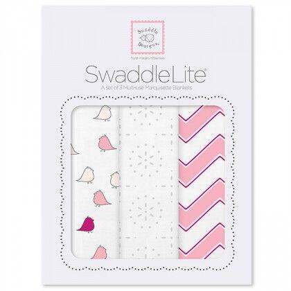 Набор пеленок SwaddleDesigns SwaddleLite Pink Chevron Lite
