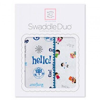 Наборы пеленок SwaddleDesigns Swaddle Duo Hello Disney