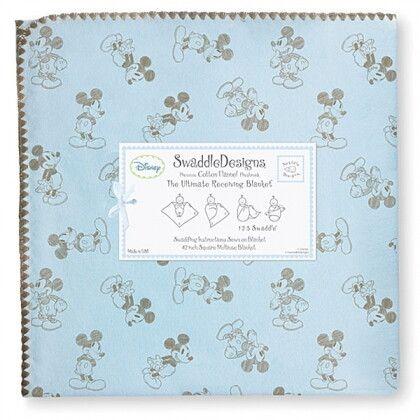 Фланелевая пеленка для новорожденного SwaddleDesigns TG on PB Mickey