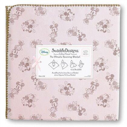 Фланелевая пеленка для новорожденного SwaddleDesigns TG on PP Minnie