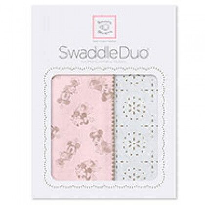 Наборы пеленок SwaddleDesigns Swaddle Duo Taupe Gray Disney