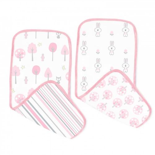 Полотенчики SwaddleDesigns Muslin Baby Burpie Pink Thicket