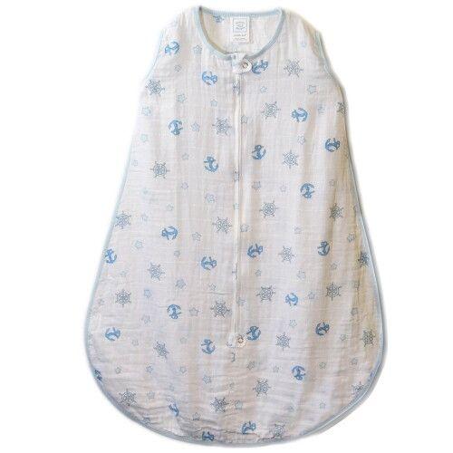 Спальный мешок Muslin zzZipMe Sack Blue Ahoy