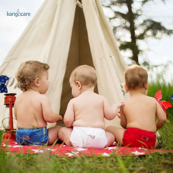 Подгузник для плавания One Size Snap Cover Kanga Care Fluff