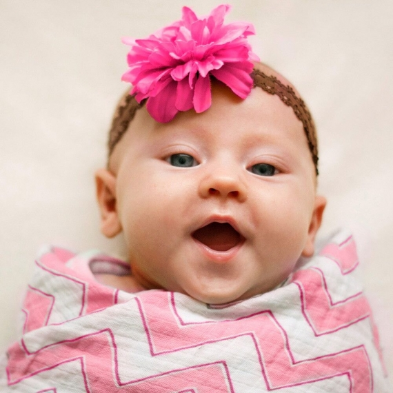 Наборы пеленок SwaddleDesigns SwaddleLite Chic Chevron Lite Pink