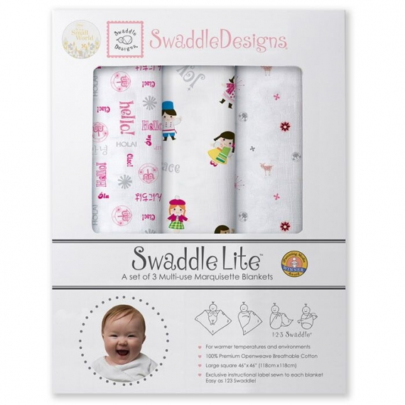 Набор пеленок SwaddleDesigns SwaddleLite IASW Very Berry Disney
