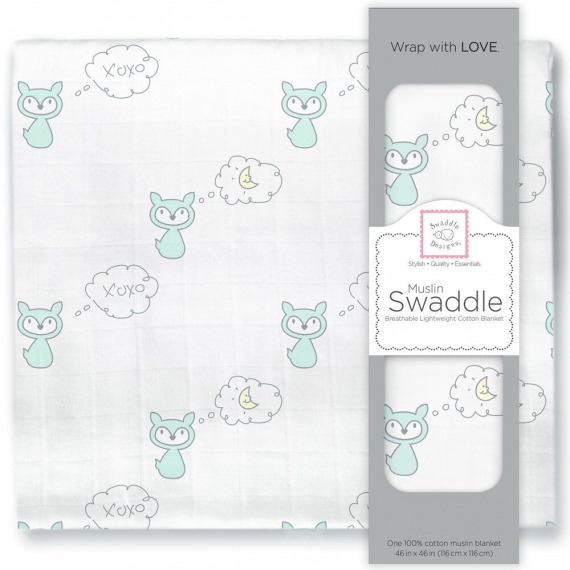 Пеленка муслиновая SwaddleDesigns SeaCrystal Fox & Moon
