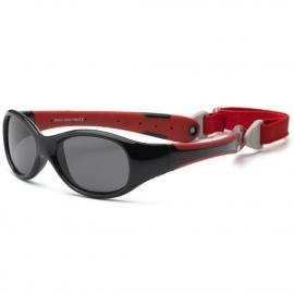 Солнечные очки для малышей Real Kids 0+ черный/красный