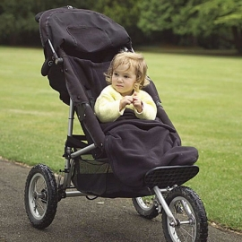Флисовый конверт Buggysnuggle Plane Black Fleece
