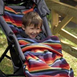 Флисовый конверт Buggysnuggle Warm Stripe Fleece