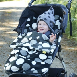 Конверт Buggysnuggle Retro Spotty Charcoal /искусственный мех