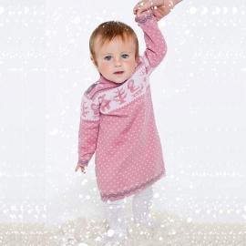 Платье розовое (размер 1-2 года)