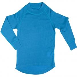 Водолазка из шерсти мериноса голубая (размер 7-8 лет)