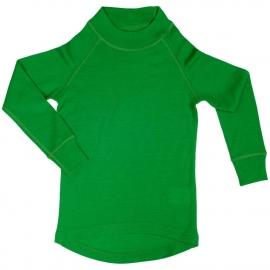 Водолазка из шерсти мериноса зеленая (размер 7-8 лет)