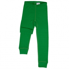 Леггинсы из шерсти мериноса зеленые (размер 6-7 лет)