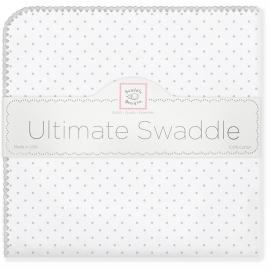 Фланелевая пеленка для новорожденного SwaddleDesigns Sterling Dot